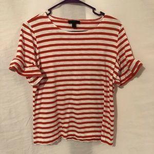 J Crew 8 Blouse Ruffle Sleeve T Shirt